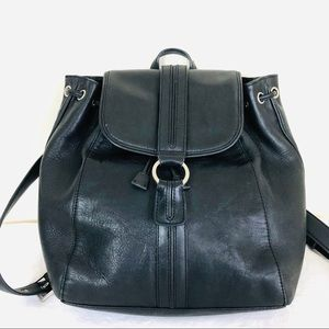 Cole Haan Black Leather Backpack